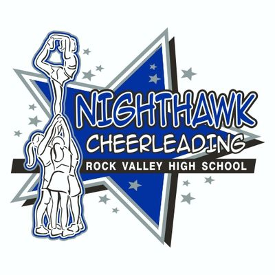 Tee Shirt Design For Rock Valley High School In Iowa. #Cheer #Cheerleading #