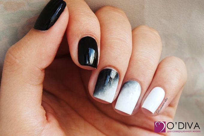 Купить: Milv, лак для ногтей, глянцевый (черный №74), 16 мл: http://odiva.ru/catalog/nail/milv_polish_classic/milv_nail_polish_glossy_black_74_16_ml/    Купить:  Milv, лак для ногтей, глянцевый (белый №37), 16 мл  http://odiva.ru/catalog/nail/milv_polish_classic/milv_nail_polish_glossy_white_37_16_ml/  #одива #милв #odiva #nail #nail #nailart #manicure #nailpolish #milv #ногти #маникюр #идеиманикюра #дизанногтей #омбре #деграде #деграде #градиент #ombre #degradés #gradientnail
