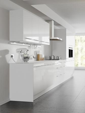 four seasons kitchen cabinets mix and match options aspen white gloss door with cool white. Black Bedroom Furniture Sets. Home Design Ideas