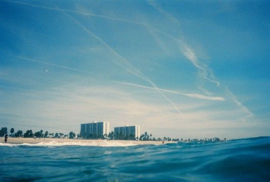 Tim Navis, shot with an underwater disposable camera.