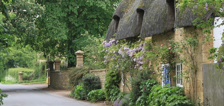 The Cotswolds - honey-coloured stone villages that hugely spread on an area of more than 160 km.