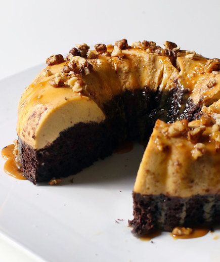 """Chocoflan   The two-layer creation is also called """"chocoflan."""""""