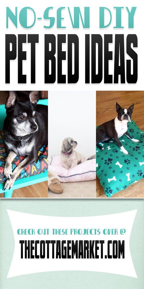 No Sew DIY Pet Beds - The Cottage Market