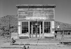free model railroad plans, commercial buildings, general store, smith-sherlock, photograph, wall, south