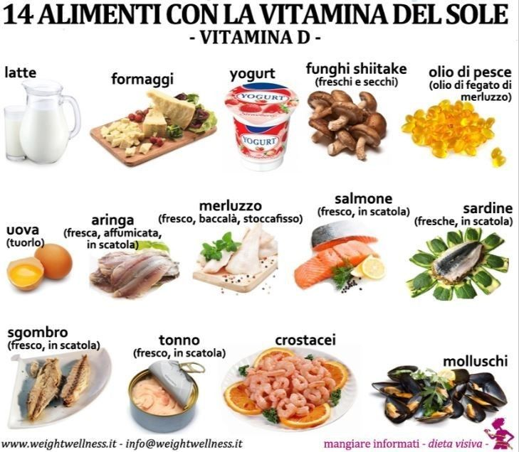 Alimenti ricchi di vitamina d vegetali