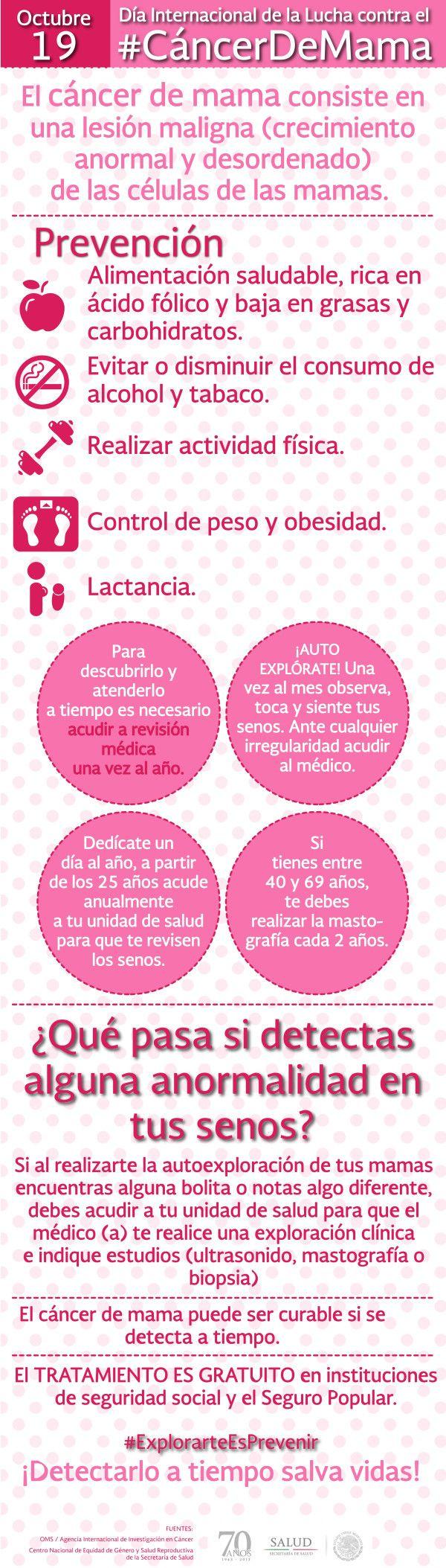 Día mundial contra el cáncer de mama, 19 de octubre
