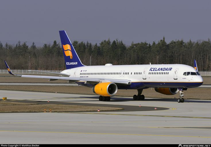 Icelandair Boeing 757-208(WL) TF-FIP aircraft, named ''Snaefell- the largest mountain in Isle of Man'',skating at Germany FranKfurt am Main (Main-Rhein International Airport. 13/03/2014.