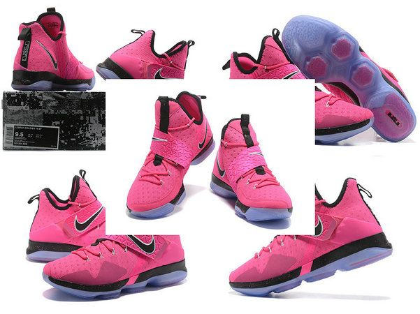 the latest 75c96 c1bf0 New LBJ Sneakers LeBron 14 XIV Think Pink Pink Flash Aunt pearl