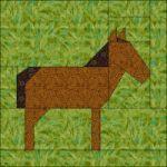 Patchwork patroon: Paard