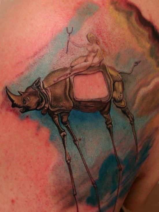 8 best images about salvador dali tattoos designs on pinterest sleeve awesome and salvador. Black Bedroom Furniture Sets. Home Design Ideas