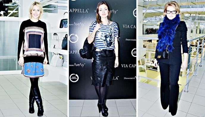"""Сегодня днем в шоуруме """"Ли-Лу"""" состоялся показ новой осенне-зимней коллекции итальянского бренда Via Cappella"""
