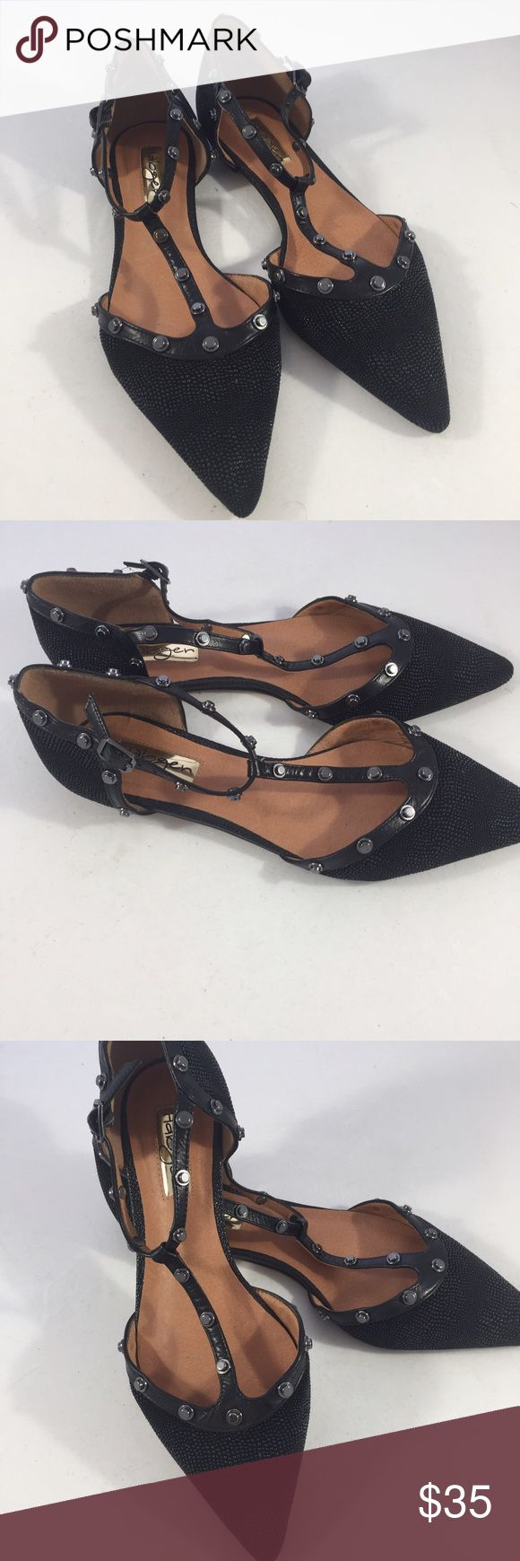 Halogen studded flats Halogen black stud flats. These have never been worn. Sitting in my closet and need to go. Size 7.5 Halogen Shoes Flats & Loafers