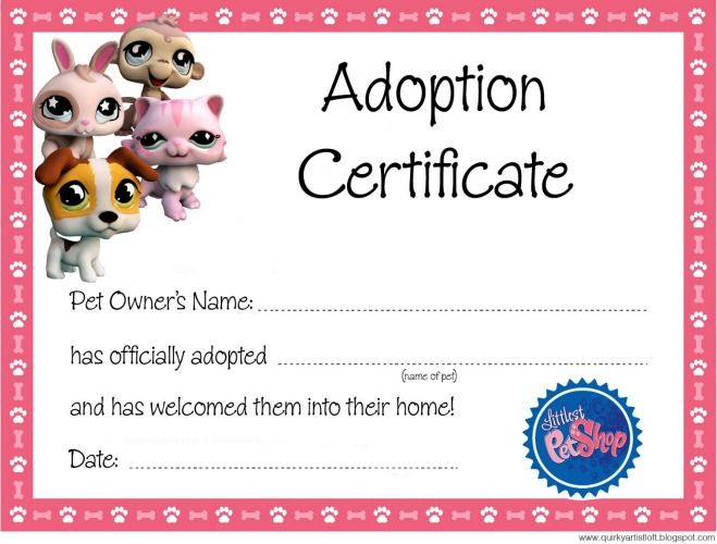 53 best Littlest Pet Shop Birthday Party images on Pinterest - fresh cat birth certificate free printable