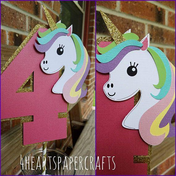 Unicornio de la torta decoración del unicornio