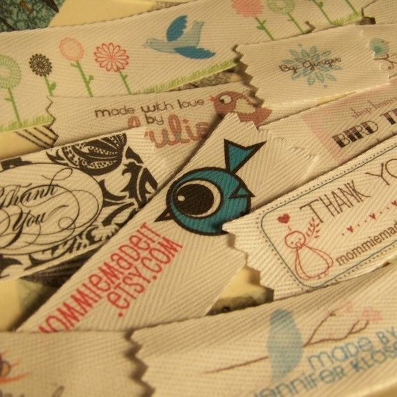 Custom Organic Cotton Twill Ribbon to use for labels for  my craft/clothing projects... food for thought, but there are so many options out there!