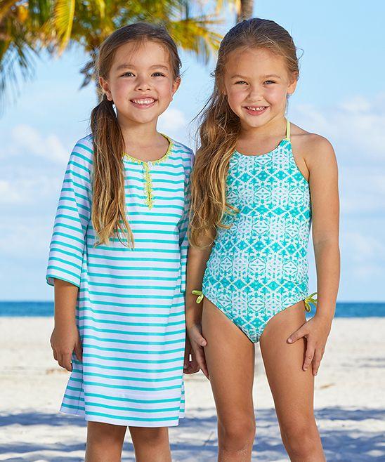 #kids #fashion #girls #boys #clothes #ad Sunshine Shores Swimsuit & Cover-Up Set - Toddler & Girls