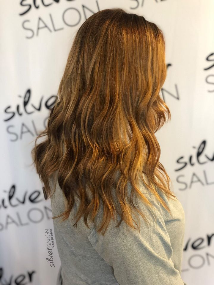 Copper Brown Base With Ribbons Of Copper And Gold Hair By Abby