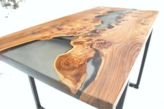 Epoxy table. Epoxy resin table. Live edge table. Coffe table