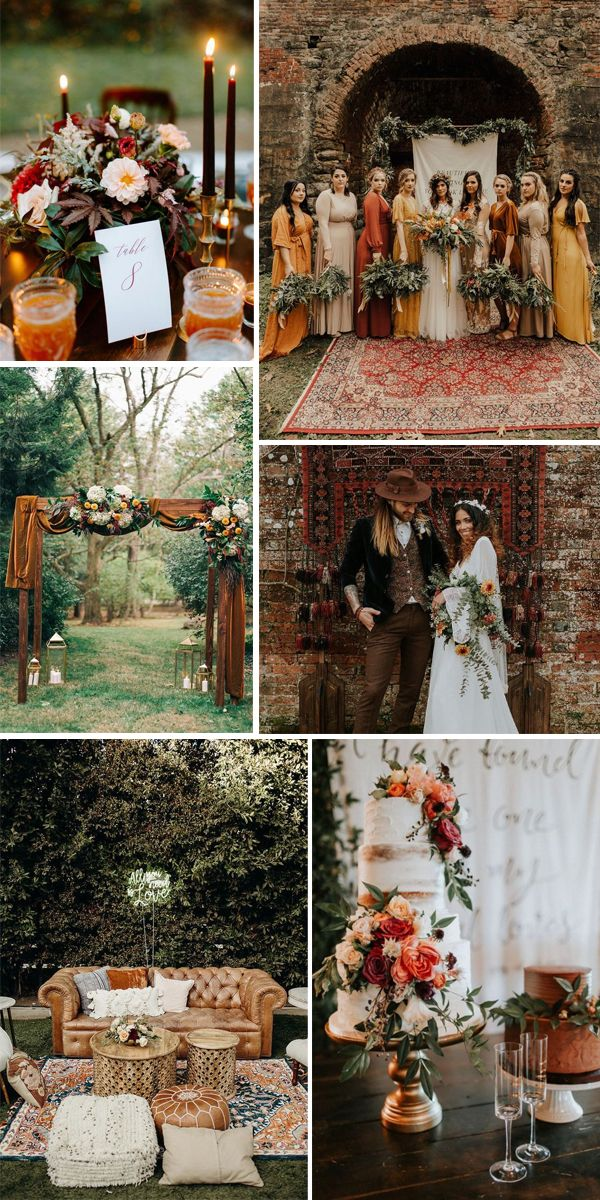 Eight Fantastic Wedding Theme Trends For 2020 In 2020 Fall Wedding Color Schemes Wedding Themes Fall Outdoor Fall Wedding