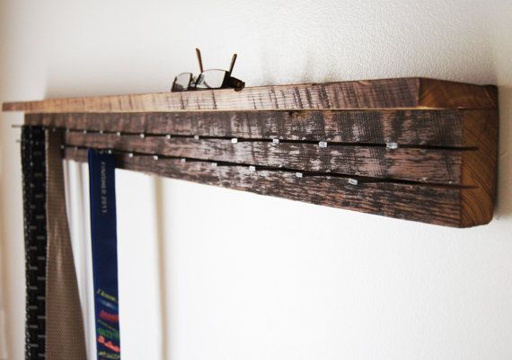 F1: Jewelry Organizer . Tie/Jewelry Rack . Reclaimed Wood Jewelry/Tie Organizer with Shelf . Modern Jewelry Rack with Shelf . Four Foot .