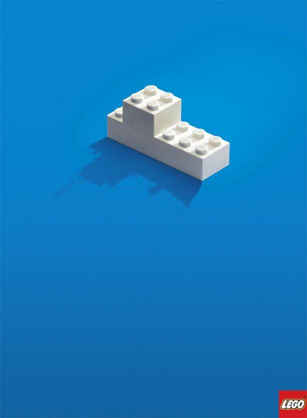 LEGO ad. The brilliance of imagination.