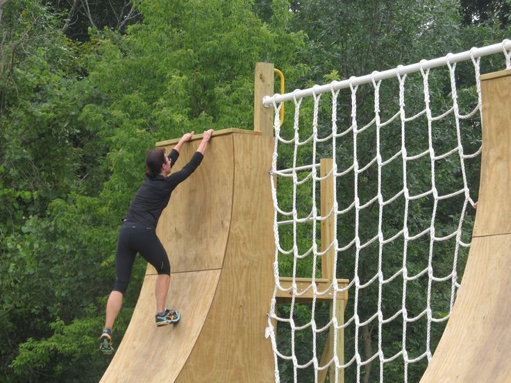 12' ramp, over the edge, jump down to a platform, and ...