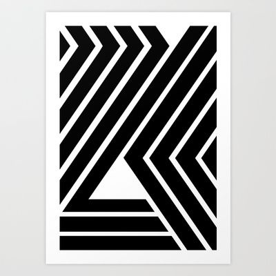 WILD STRIPES Art Print by RK // DESIGN - $22.88