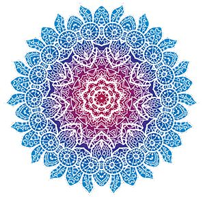 potisk, originální motiv na tričko,T-ART.CZ, mandala illustration color art design t-shirt