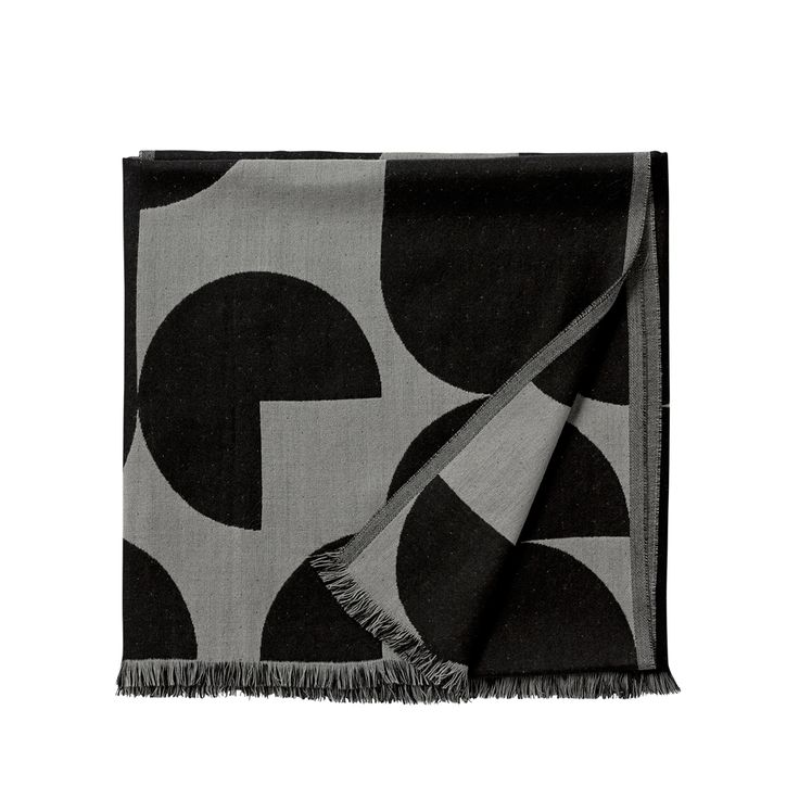Forma pläd - Forma pläd - light grey/black