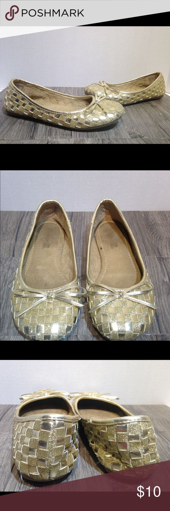 Smart Fit gold basket weave ballet shoes size 2 Smart Fit gold basket weave ballet shoes  size 2 smart fit Shoes Dress Shoes