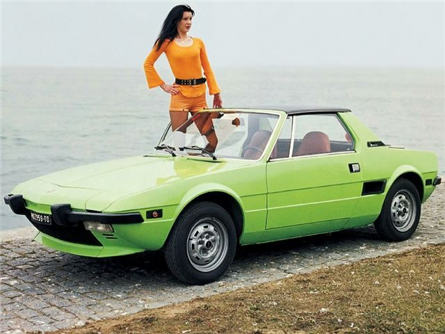 Fiat X1/9 - I love these early versions, mine was one of the very first right hand drive versions, I didn't have a lot of money at the time so I purchased it without an engine (the owner had just had it rebuilt to racing spec).
