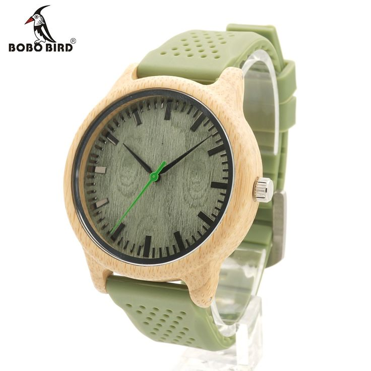 >> Click to Buy << BOBO BIRD B06 Men's Quartz Watch With Silicone Strap Green Wooden Bamboo Casual Japanese Movement Watch Women With Gift Box #Affiliate