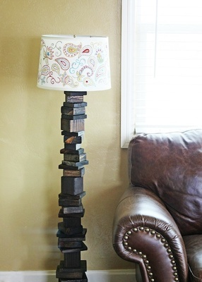35 best images about block lamp projects on pinterest for Wood floor knocking block