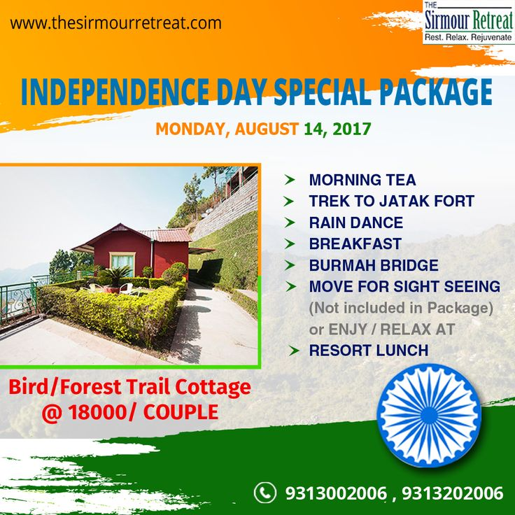 Spend your #IndependenceDay at #Nahan in Himachal, which is one of the best offbeat #Destinations in #India🇮🇳️🏔️ Book your #IndependenceDaySpecialPackage only on The Sirmour Retreat.