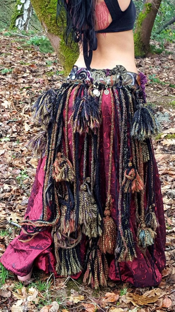 Cinturón Tribal de la ATS de Wild Thing  La base de esta vida, pedazo de cielo de respiración es una mezcla de verde oliva suave brillo seda