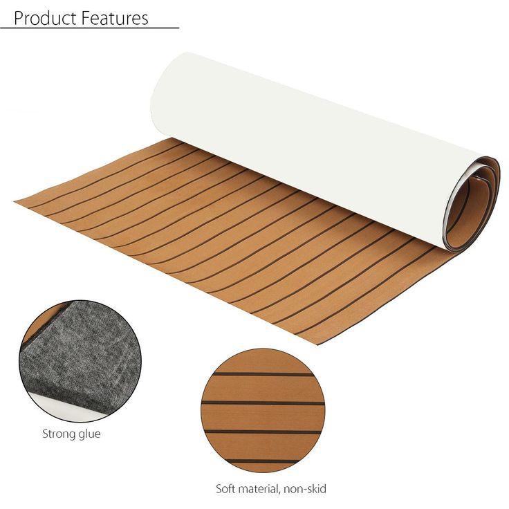 EVA Foam Teak Sheet Zelfklevende Boot RV Jacht Synthetische Decking 35X91 Inches 6 MM 89x230 cm