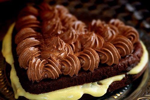 Chokladtårta med Vaniljkräm