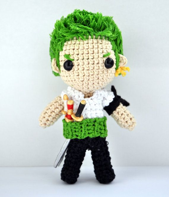 Zoro Roronoa One Piece Amigurumi by Crochetycantar on Etsy, €19.82