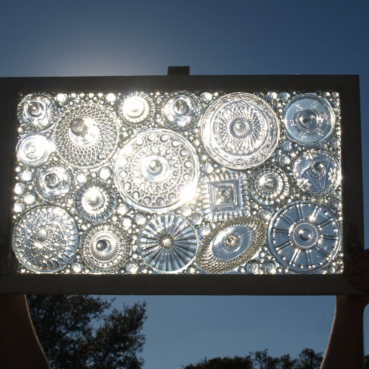 Stained Glass Mosaic Repurposed Window Don't Flip by ARTfulSalvage