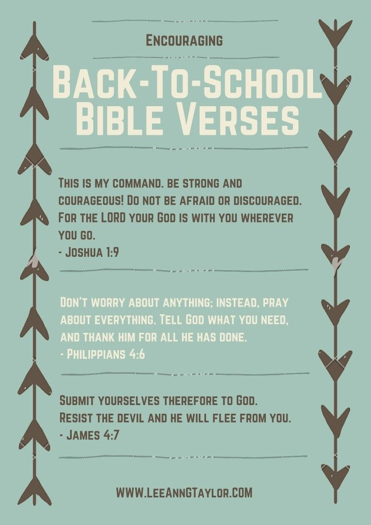 encouraging bible verses for back to school - scripture for kids - parenting with purpose - creating a God-centered home