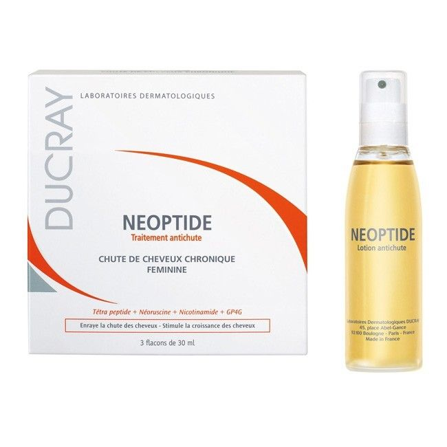 Ducray Neoptide Anti-Hair Loss Lotion is stimulating lotion, that curbs hair loss and stimulates hair growth. It's indicated for women with chronic hair loss.