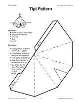 Paper Teepee Template | Tipi Pattern | Indianen Knutselideeën