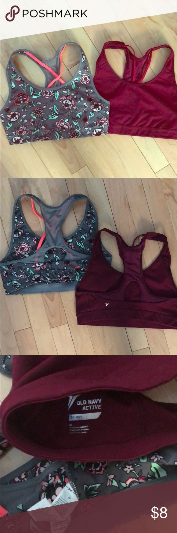 (2) Old Navy sports bras No padding, like new old navy active Other