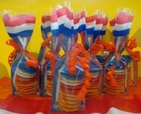 Rood/wit/blauw/oranje musketflikken zakje - kaasuitholland