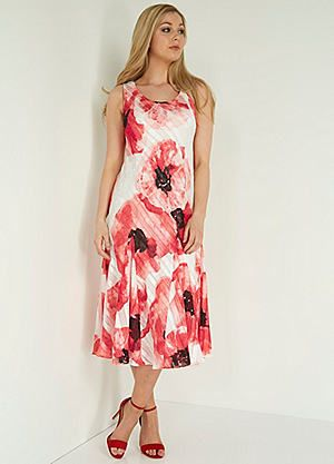 Roman Originals Poppy Print Bias Cut Dress #kaleidoscope #occasionwear