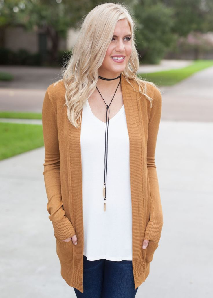 My Everything Open Front Cardigan - Camel