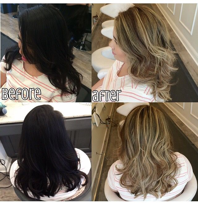 Corrective Color Black Box Dye Balayage Highlights