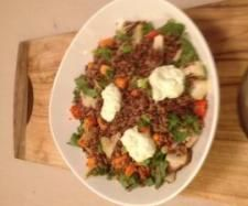 Recipe Quinoa, Lentil, Red and Wild Rice Salad with Orange Dressing by Tina Hansen-Jones - Recipe of category Main dishes - vegetarian