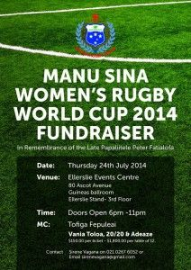 Manusina Corporate Dinner FUNDRAISER - Women's Rugby World Cup 2014 FRANCE. #Samoa #Women'sRugby