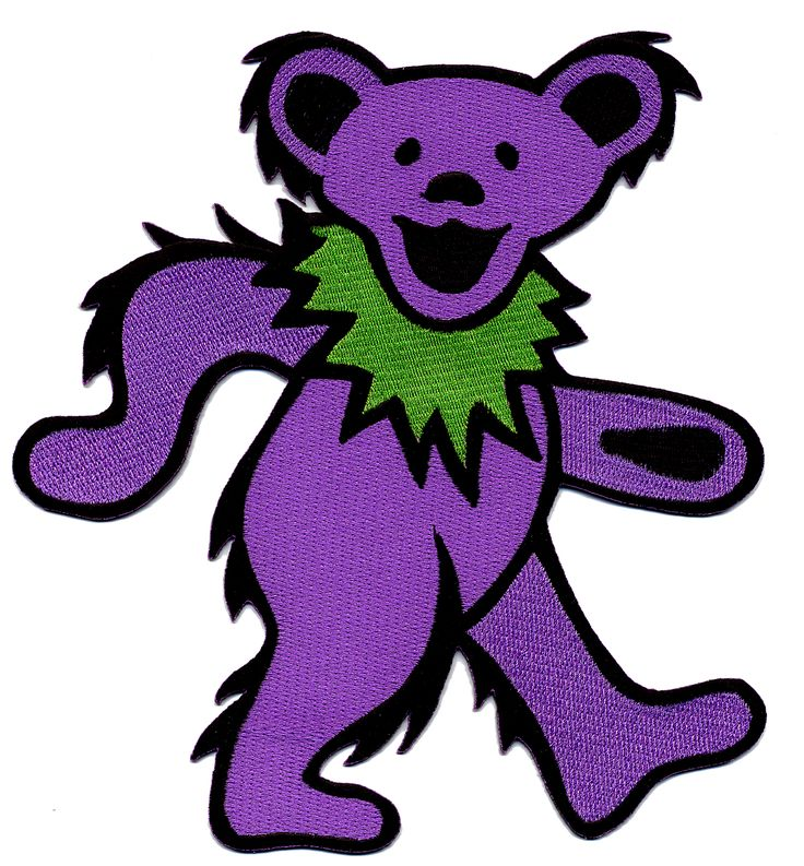 grateful dead bear | Gypsy Rose :: Patches :: PATCH - GRATEFUL DEAD XXL DANCING BEAR PATCH